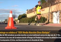El domingo se celebra el «XXIV Medio Maratón Elvas-Badajoz»