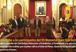 Celdrán recibe a los participantes del VII Memorial Juan José Gómez