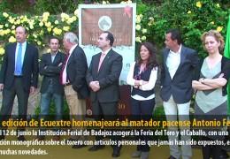 La III edición de Ecuextre homenajeará al matador pacense Antonio Ferrera