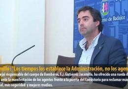 Jaramillo: «Los tiempos los establece la Administración, no los agentes»