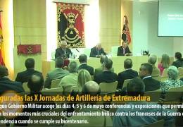Inauguradas las X Jornadas de Artillería de Extremadura