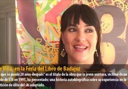 Irene Villa, en la Feria del Libro de Badajoz