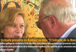 Pilar Cernuda presenta en Badajoz su obra «El Sídrome de la Moncloa»