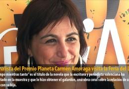 La finalista del Premio Planeta Carmen Amoraga visita la Feria del Libro