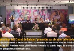 Los ganadores del «Ciudad de Badajoz» presentan sus obras en la Feria del Libro