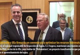 Ayuntamiento y UEx firmarán un convenio para optimizar los recursos hidronaturales