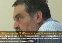 Sosa critica que se gasten 23.300 euros en la toma de posesión de los concejales