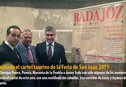 Presentado el cartel taurino de la Feria de San Juan 2011