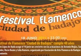 El Festival de Flamenco «Ciudad de Badajoz» cumple 40 años