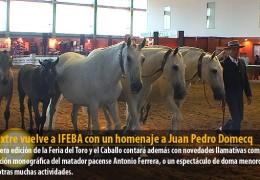 Ecuextre vuelve a IFEBA con un homenaje a Juan Pedro Domecq