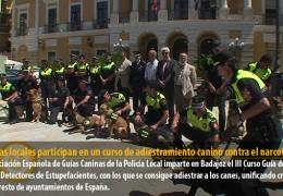 Policías locales participan en un curso de adiestramiento canino contra el narcotráfico
