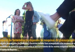 Los mayores de Valdebótoa ya disponen de máquinas de gimnasia geriátrica