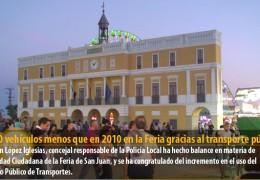2.000 vehículos menos que en 2010 en la Feria gracias al transporte público