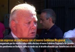 Celdrán expresa su confianza con el nuevo Gobierno Regional