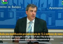 Aprobada una modificación presupuestaria de 12,2 millones de euros