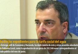 Aprobados los expedientes para la tarifa social del agua