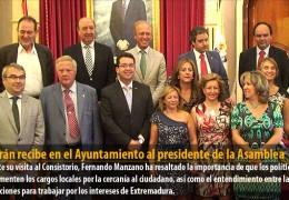 Celdrán recibe en el Ayuntamiento al presidente de la Asamblea