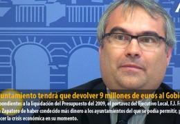 El Ayuntamiento tendrá que devolver 9 millones de euros al Gobierno