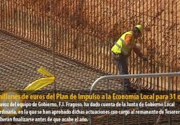 1,2 millones de euros del Plan de Impulso a la Economía Local para 31 obras