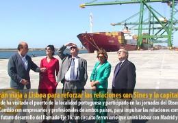 Celdrán viaja a Lisboa para reforzar las relaciones con Sines y la capital lusa