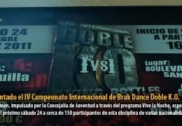 Presentado el IV Campeonato Internacional de Break Dance Doble K.O.