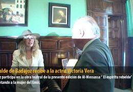 El Alcalde de Badajoz recibe a la actriz Victoria Vera