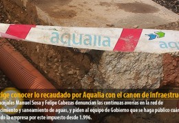 IU exige conocer lo recaudado por Aqualia con el canon de infraestructura