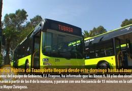 El Servicio Público de Transporte llegará desde este domingo hasta el mercadillo