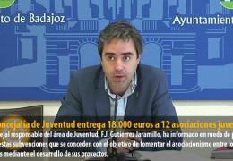 La Concejalía de Juventud entrega 18.000 euros a 12 asociaciones juveniles