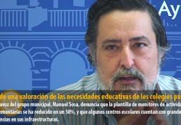 IU pide una valoración de las necesidades educativas de los colegios públicos