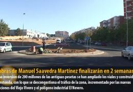 Las obras de Manuel Saavedra Martínez finalizarán en 2 semanas