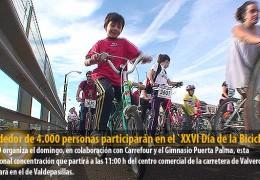 Alrededor de 4.000 personas participarán en el `XXVI Día de la Bicicleta´