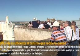 IU califica de insuficiente el turismo que recibe la ciudad