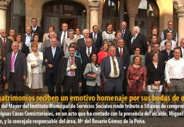 17 matrimonios reciben un emotivo homenaje por sus bodas de oro