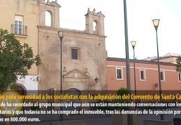 Celdrán pide serenidad a los socialistas con la adquisición del Antiguo Convento de Santa Catalina