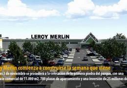 Leroy Merlín comienza a construirse la semana que viene