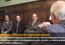 Celdrán recibe al ministro de Cooperación saharaui