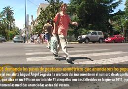 El PSOE demanda los pasos de peatones asimétricos que anunciaron los populares