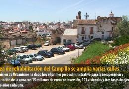 El área de rehabilitación del Campillo se amplía varias calles