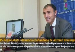 El GMS-Regionalistas denuncia el abandono de Antonio Domínguez