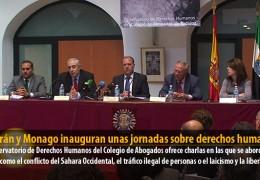 Celdrán y Monago inauguran unas jornadas sobre derechos humanos