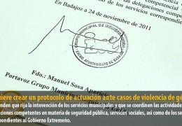 IU quiere crear un protocolo de actuación ante casos de violencia de género