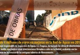 Más de 4 millones de euros en mejoras en la Red de Aguas en 2011