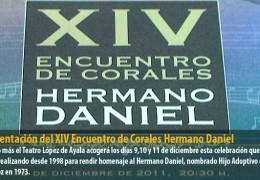 Presentación del XIV Encuentro de Corales Hermano Daniel