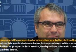 Un convenio con la UEx concederá tres becas formativas en al Archivo Histórico Municipal
