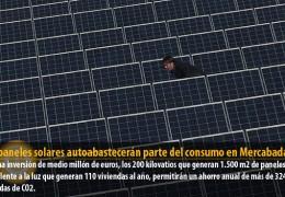 950 paneles solares autoabastecerán parte del consumo en Mercabadajoz