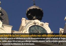 El futuro hotel de las Tres Campanas solicita más edificabilidad para el proyecto