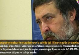 Sosa propone emplear lo recaudado por la subida del IBI en creación de empleo local
