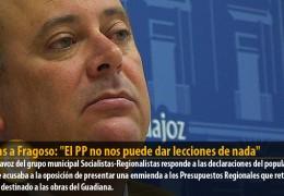 Vegas a Fragoso: «El PP no nos puede dar lecciones de nada»