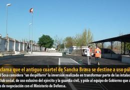 IU reclama que el antiguo cuartel de Sancha Brava se destine a uso público